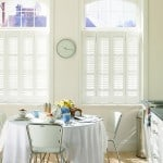 White-cafe style shutters kitchen